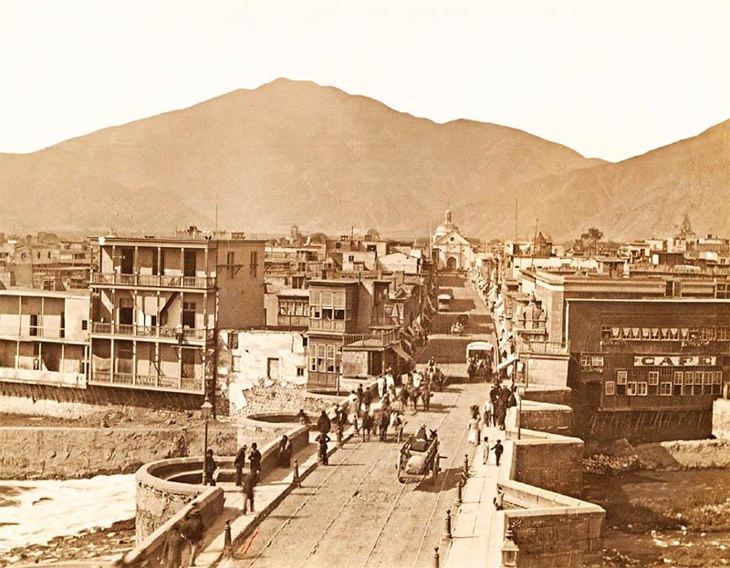 Puente de Piedra a fines del siglo XIX.