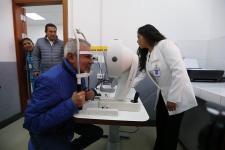 El alcalde Luis Castañeda Lossio en una visita al hospital de Cusco.
