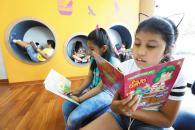 La nueva biblioteca infantil y juvenil del Parque de la Muralla está especialmente diseñada para sus pequeños usuarios.