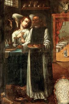 San Martín de Porras, boticario y enfermero. Siglo XVIII. Óleo sobrelienzo. Crédito: Sala de San Martín de Porras. Convento de Santo Domingo.