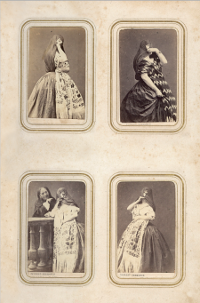 Tapadas. Álbum de tarjetas de visita, ca. 1865. Crédito: E. Courret. Colección Roberto Fantozzi.