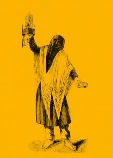 """""""Penitente"""", grabado, Lima, s. XIX. Crédito: Apuntes históricos, descriptivos, estadísticos y de costumbres, de Manuel A. Fuentes. París, 1867."""