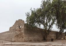 Vista del bastión Santa Lucía. Se puede apreciar la casamata desde donde se miraba y se podía disparar al exterior. Crédito: Fotografía de Gladys Alvarado.