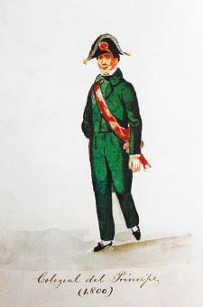 Colegial del Príncipe (1800). Acuarela de Pancho Fierro. Crédito: Pinacoteca Ignacio Merino de la Municipalidad de Lima.