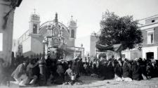 Iglesia del Monasterio Real de Santa Teresa, destruida en 1946.