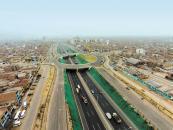 Espectacular vista aérea del intercambio vial 25 de Enero en la Panamericana Norte.