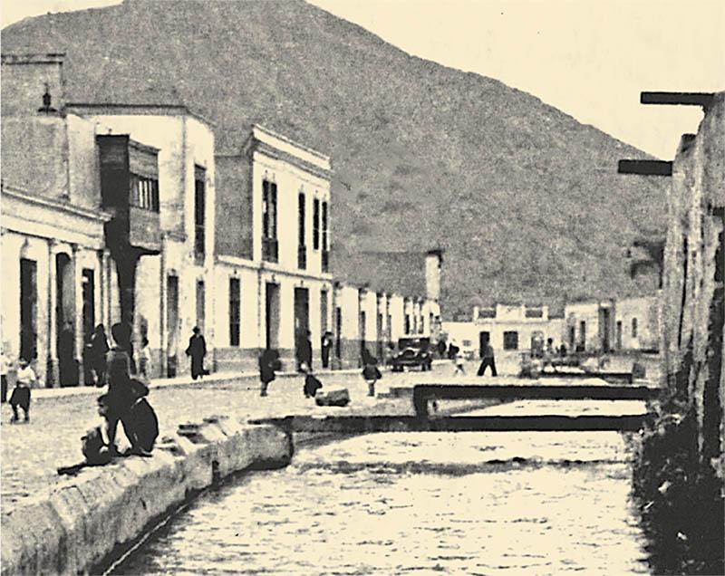 Caudal de la acequia de la Ciudad o Huatica en la década de 1920
