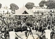 Inauguración de la avenida del Progreso, hoy avenida Venezuela. Crédito: Fotografía de Avilés Hnos., 1924.PUCP – Colección Leguía.
