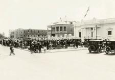 Sociedad de Fundadores de la Independencia y Vencedores delDos de Mayo de 1866. Crédito: Fotografía Valverde, 1924. PUCP – ColecciónLeguía.