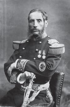 Andrés Avelino Cáceres, ca. 1875, fotografiado por E. Courret. Crédito: Archivo Courret de la BNP.