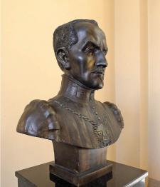 Busto del Inca Garcilaso, Ministerio de Relaciones Exteriores del Perú. Crédito: Fotografía de Omar Zevallos Velarde.