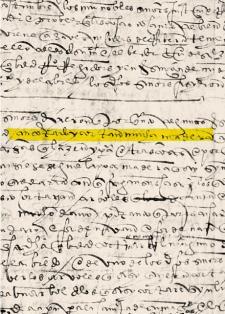 """""""… (h)an cortado y cortan mucha madera…"""". Ordenanza en la que se denuncia la temprana depredación de los recursos naturales de Lima. Crédito: Libro I de Cabildos. Escritura de 1535."""