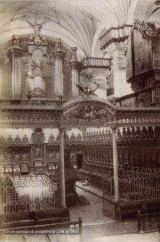 Coro de canónigos de la Catedral de Lima, ca. 1860.